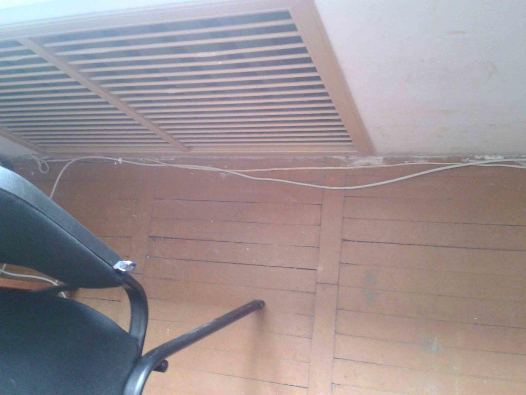 Некачественный монтаж компьютерной сети в помещении