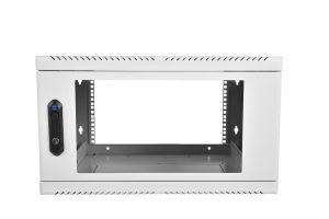 Шкаф телекоммуникационный настенный 6U (600х480) дверь стекло