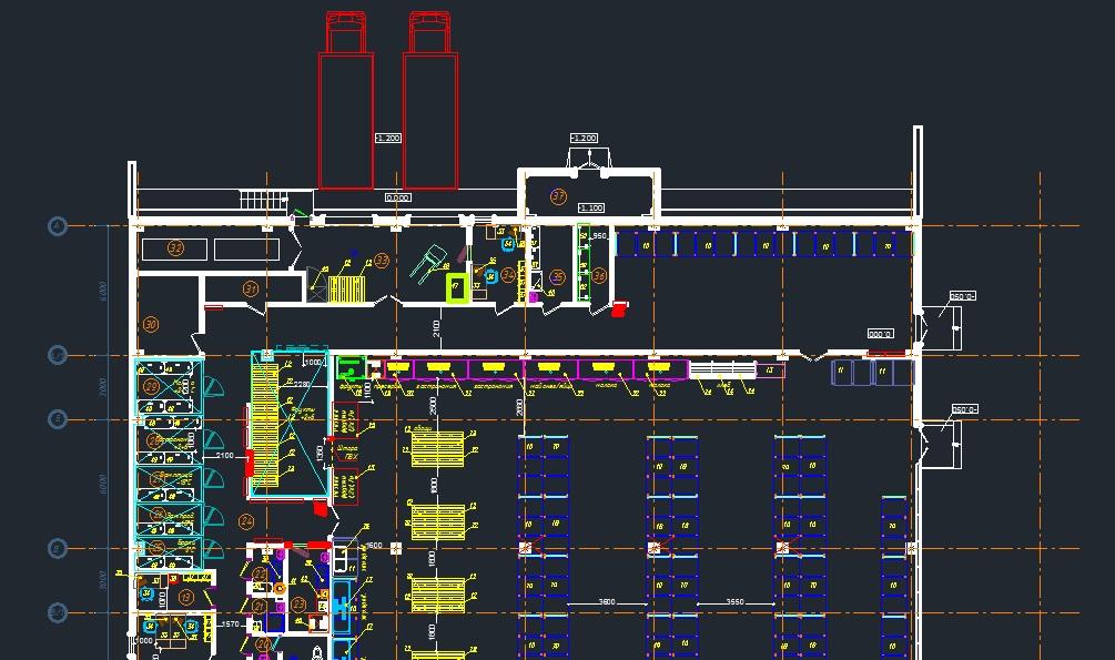 Пример проекта СКС для магазина