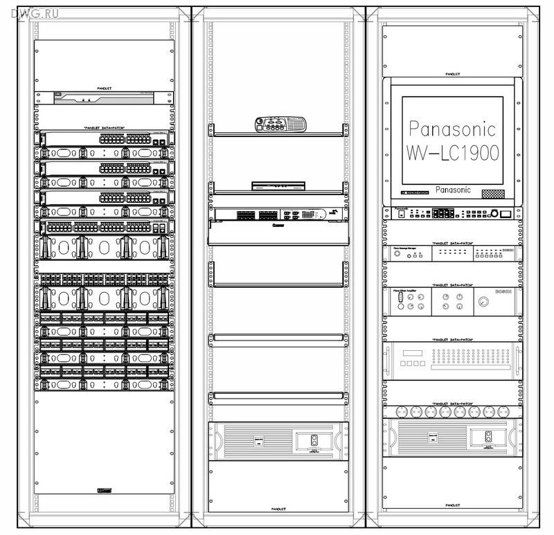 Размещение оборудования в телекоммуникационном шкафу